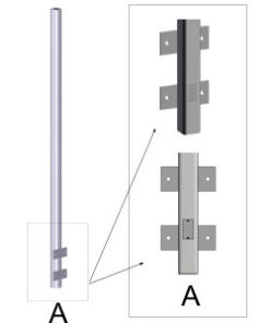 Wall Mounted Poles
